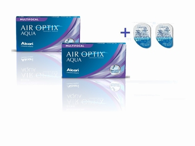Air Optix Aqua Multifocal 12+2 HydraGlyde testlenzen Actie