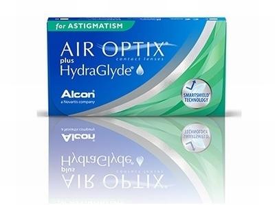 Air Optix for Astigmatism plus HydraGlyde 3 lenzen