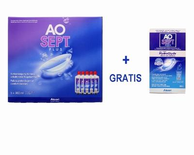 AOSEPT-plus, voordeelpak + HydraGlyde 90 ml.